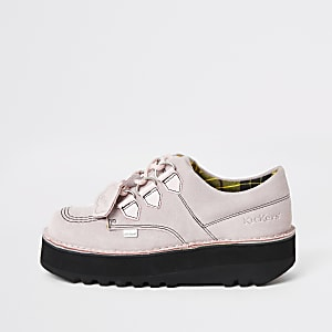 Kickers Lo Stack - Creepers rose clair