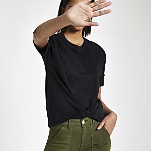 Black knot front T-shirt
