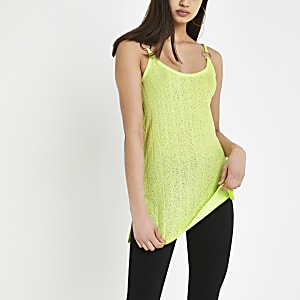Light green ribbed cami top