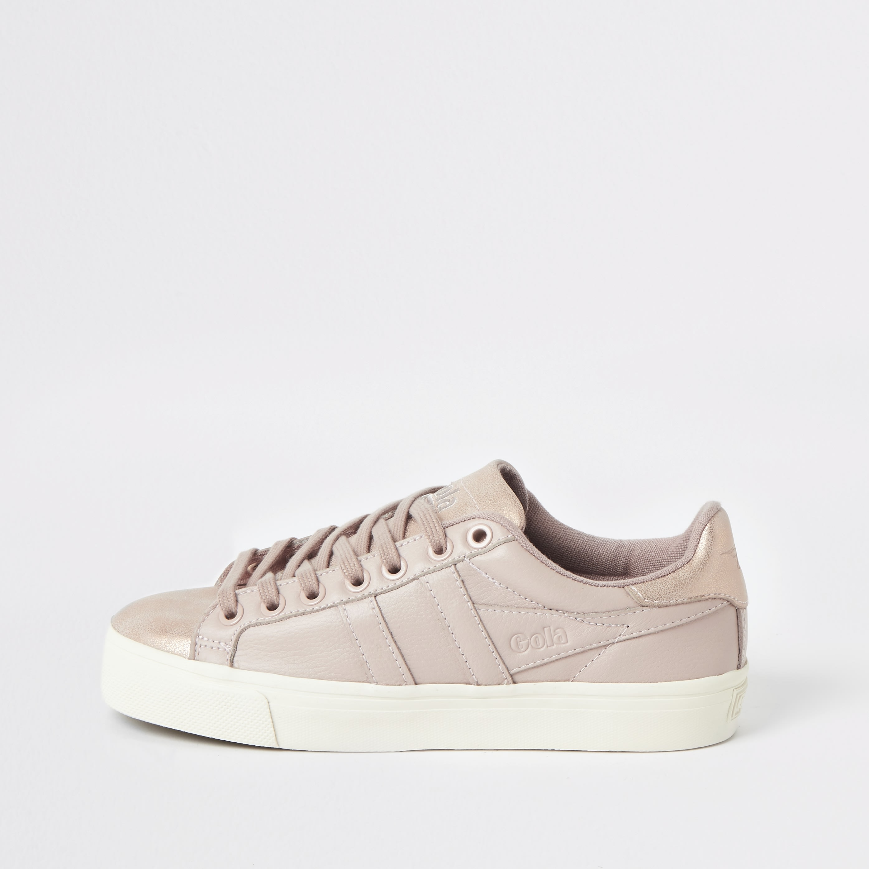 GOLA | Womens Gola Classics Pink Orchid Shimmer Trainers | Goxip