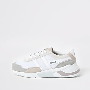 Gola white print Eclipse runner trainers