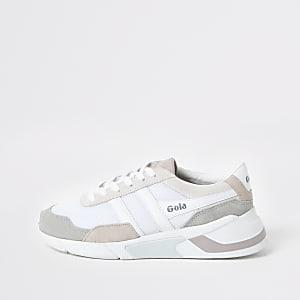 Gola white print Eclipse runner sneakers