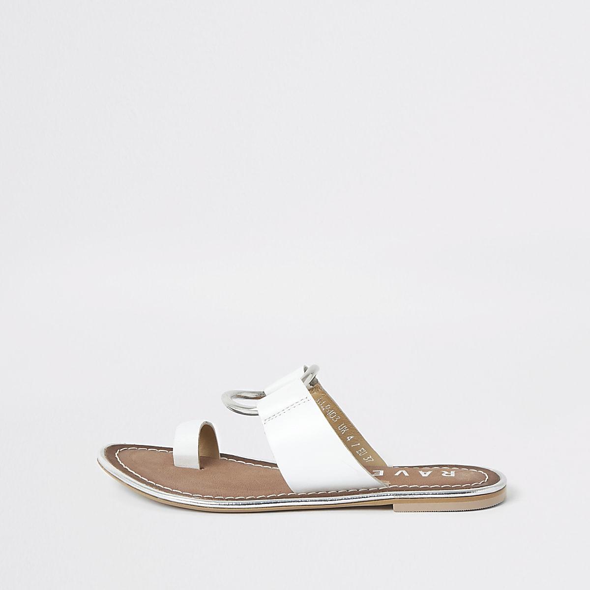 Ravel white ring front sandal
