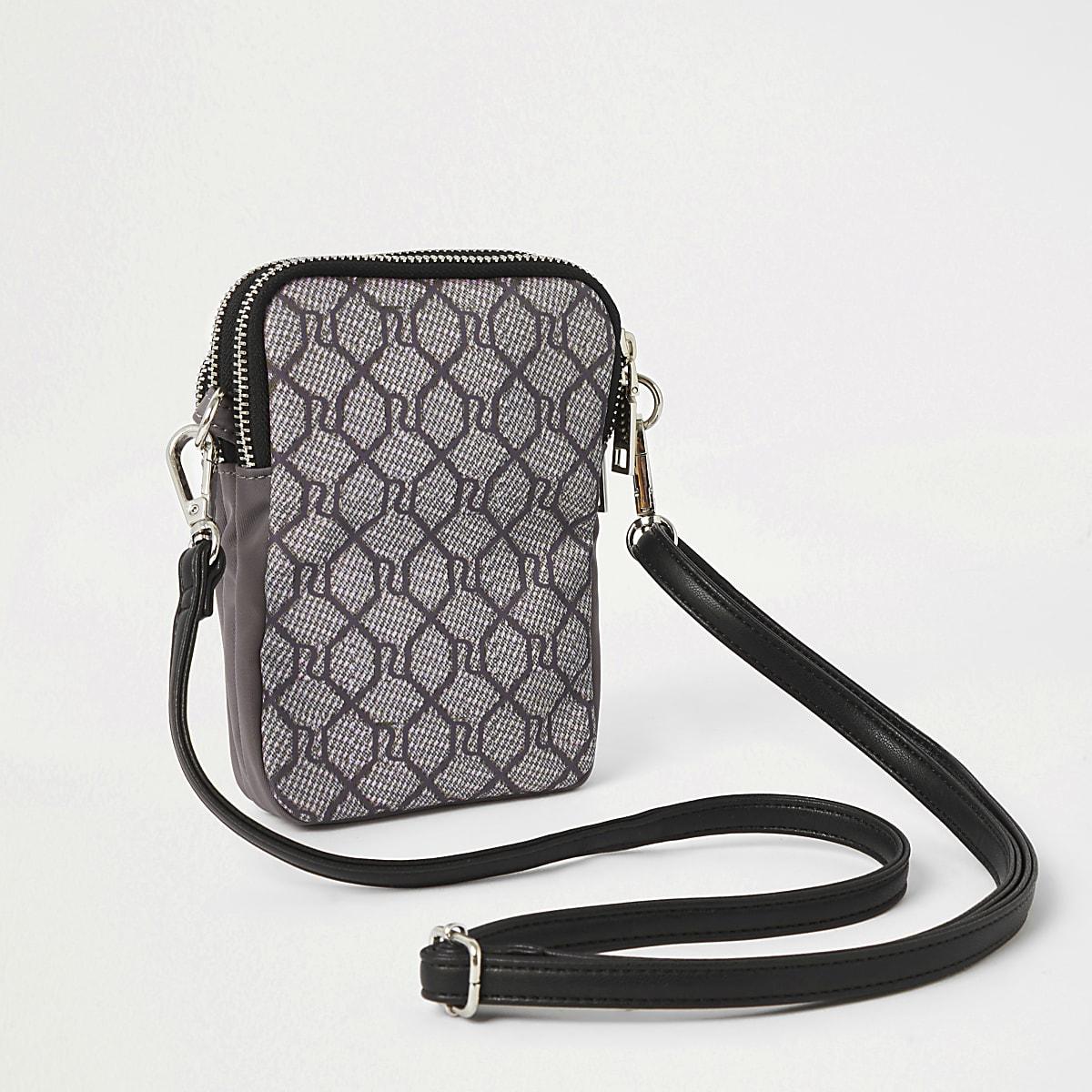 f02ffe093e4 Light grey RI monogram cross body bag - Cross Body Bags - Bags ...
