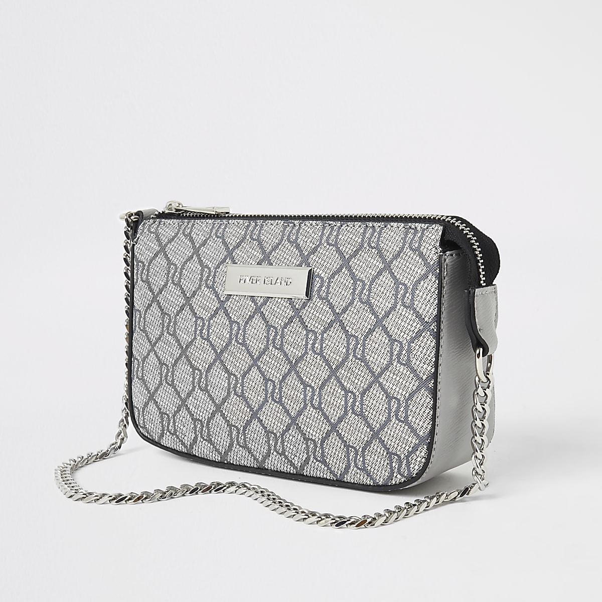 Grey RI monogram under arm bag