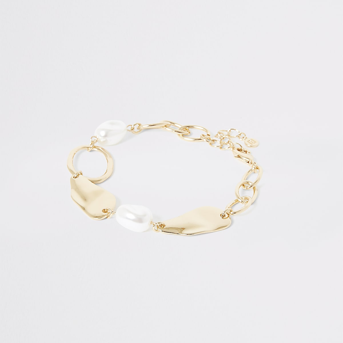 Gold colour pearl anklet