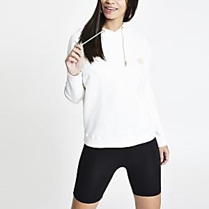 Cream batwing sleeve hoodie