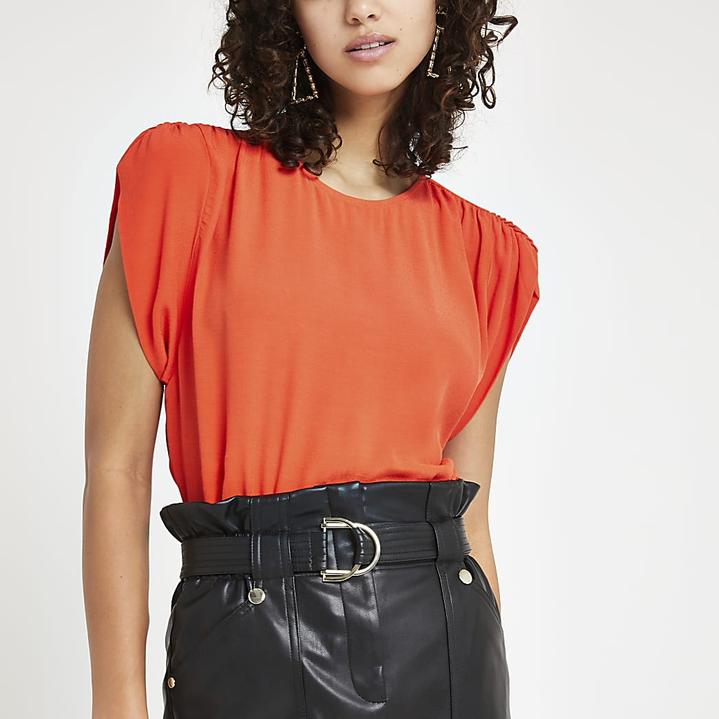 Bright orange short sleeve T-shirt