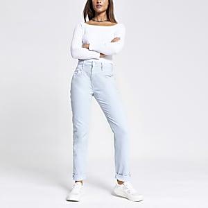 Lichtblauwe Mom jeans