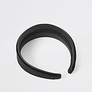 Black nubuck headband