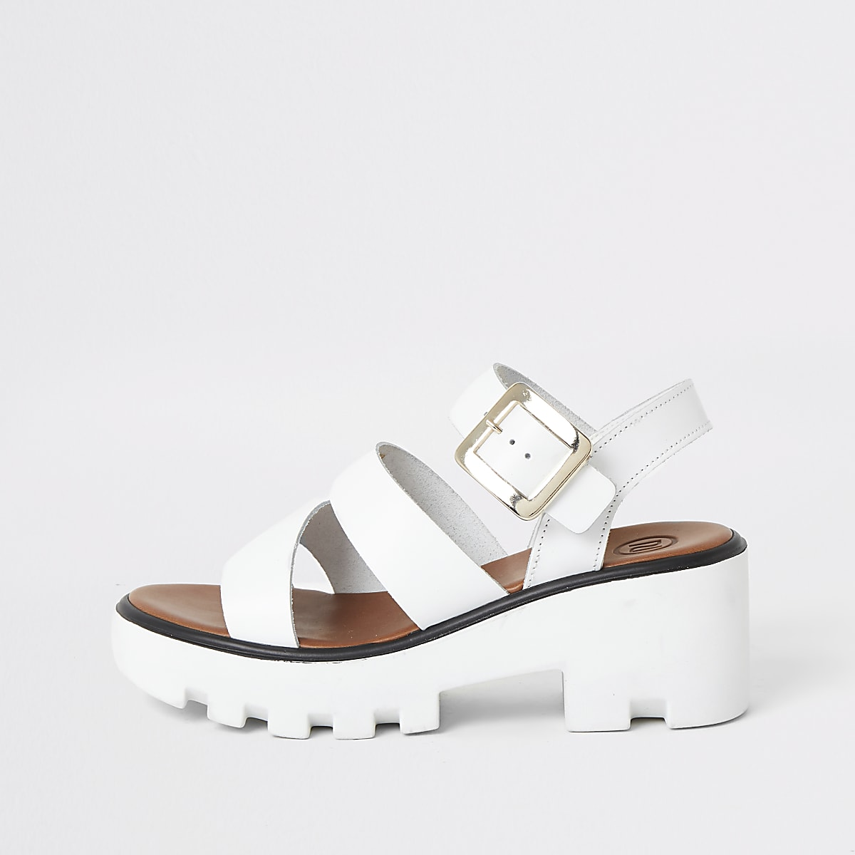 White cleated sandals