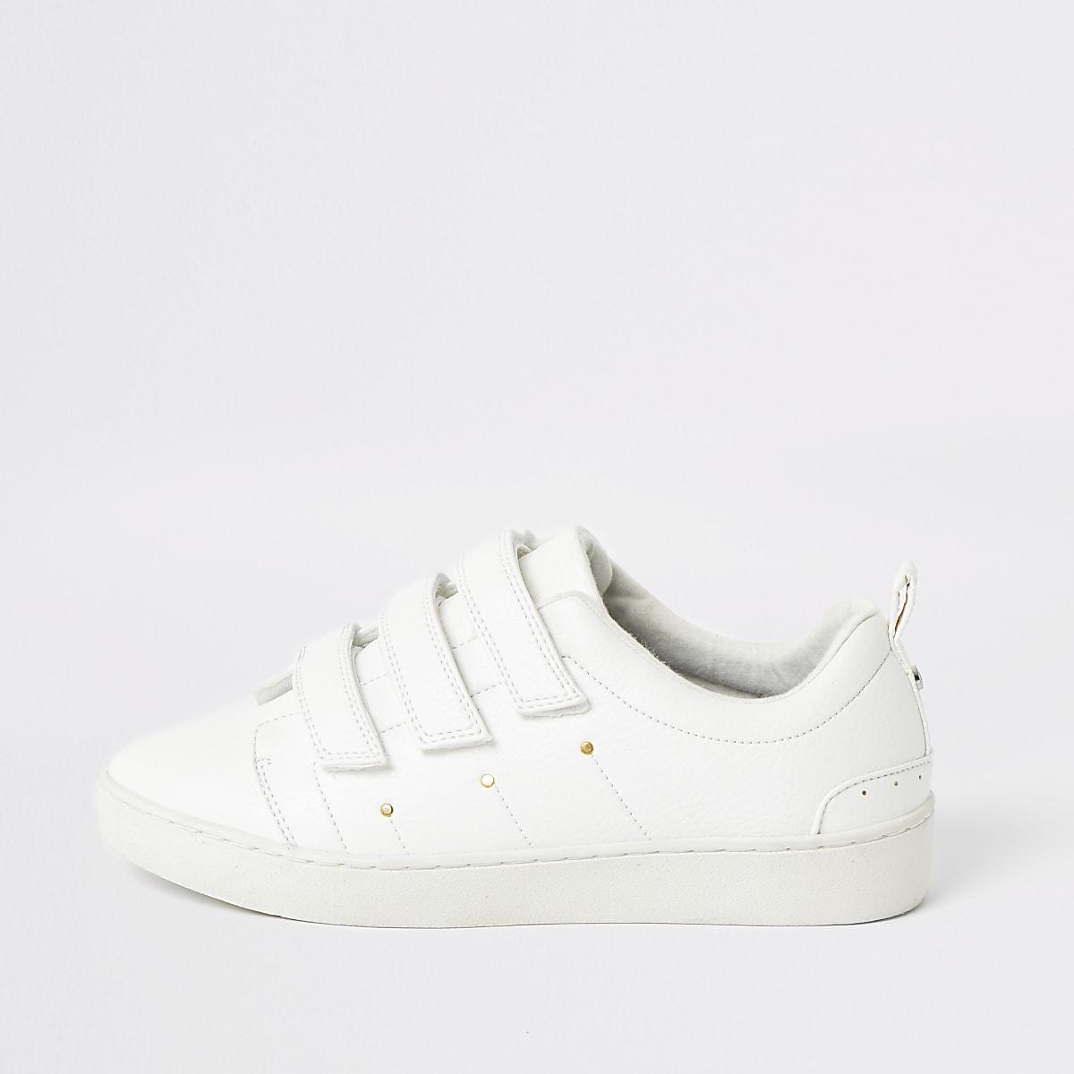 White velcro trainers