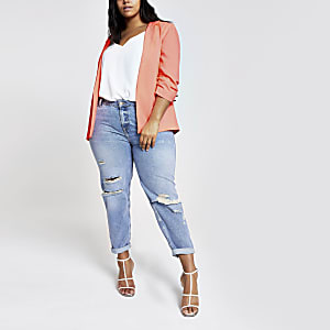 Plus – Blazer in Neonorange