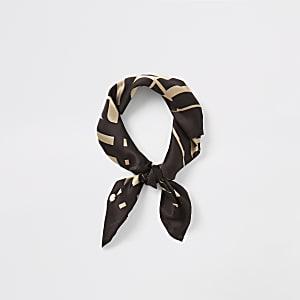 Brauner Schal mit RI-Monogramm