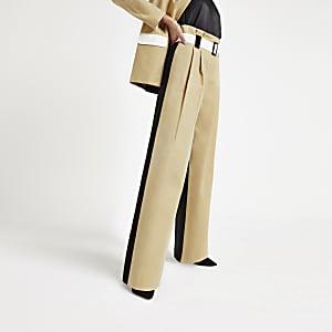 Hellbraune Paperbag-Hose