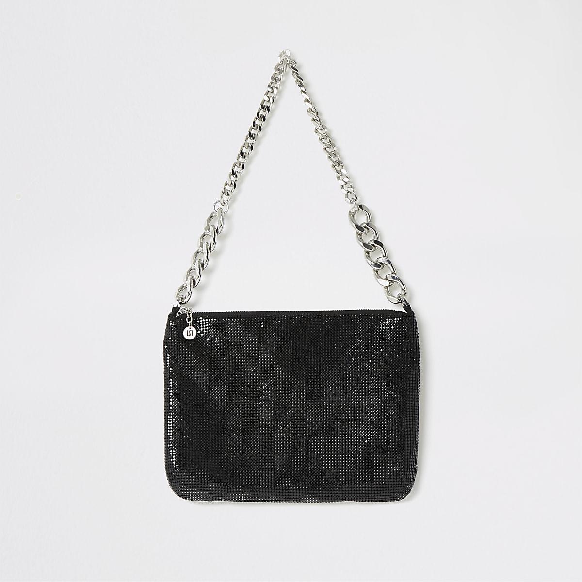 Black embellished shoulder bag