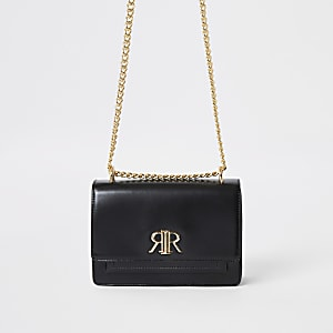 Zwarte onderarmtas met RI-logo