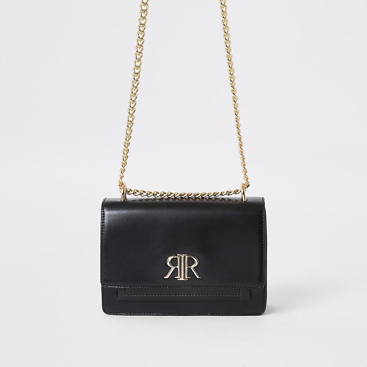 Schwarze Tasche mit RI-Logo