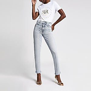 Lichtblauwe denim mom jeans