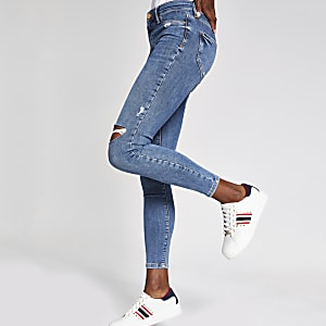 Moly – Mittelblaue Jeggings