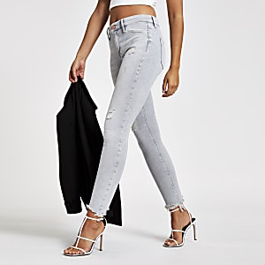 Light grey Molly mid rise jeggings