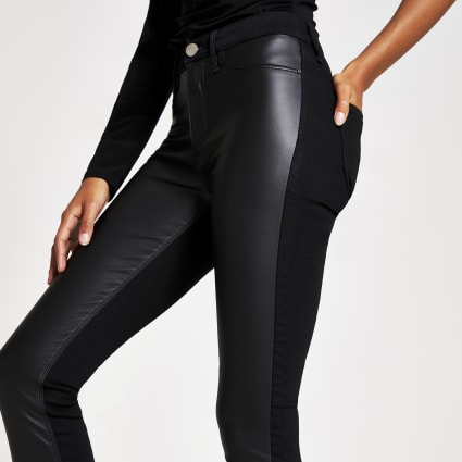 Black PU denim Molly jeggings