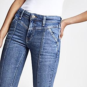 Mid blue Amelie super skinny jeans