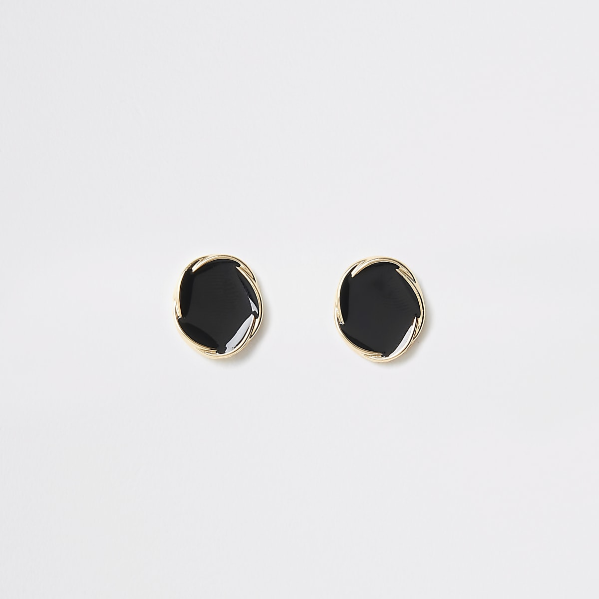 Gold color twist stud earrings