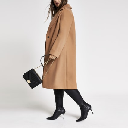 Plus beige longline coat