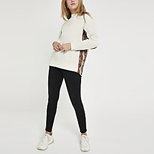 Cream printed sweatshirt