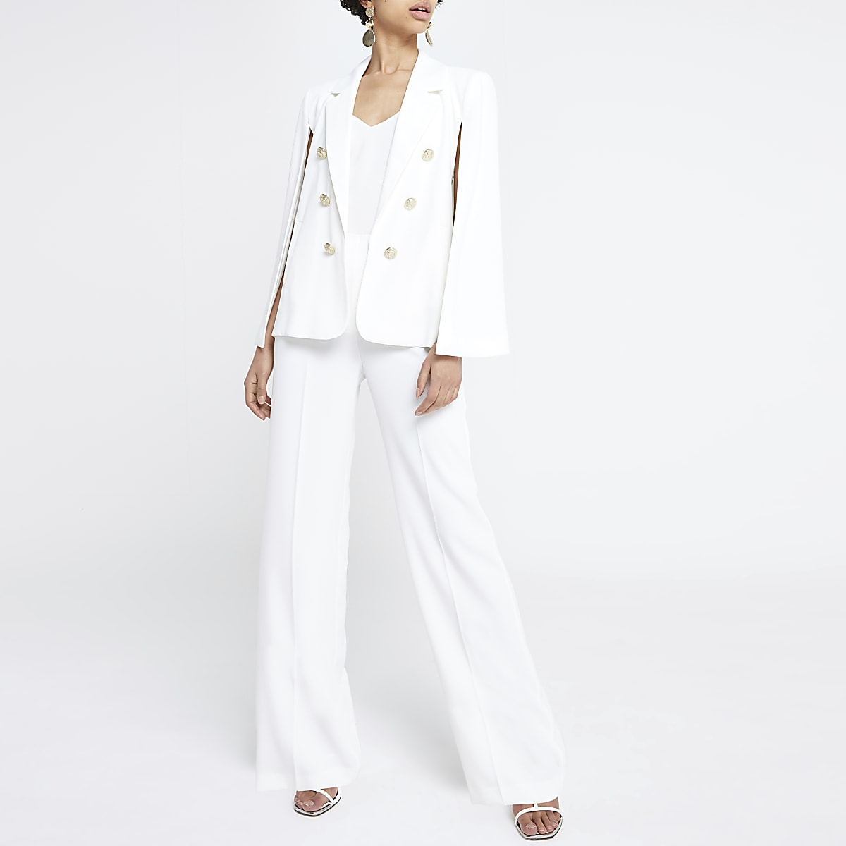 White cape blazer