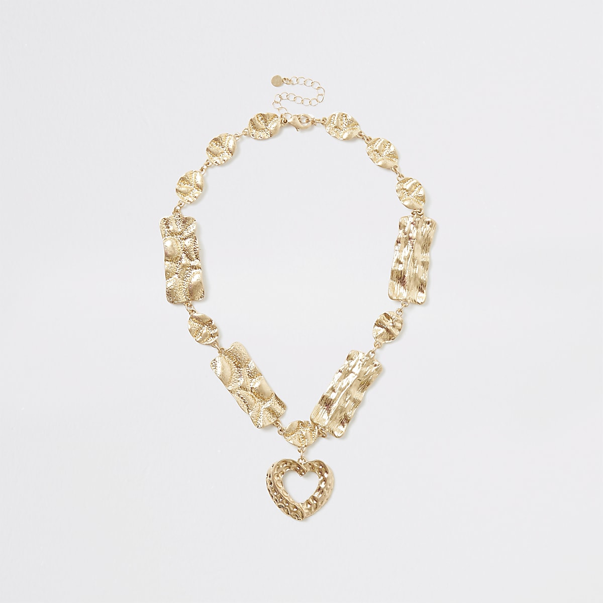 Gold color heart pendant necklace