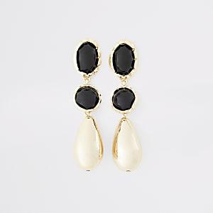 Gold color tear drop earrings