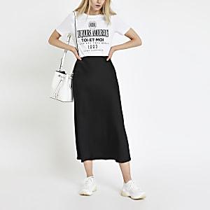 Wit T-shirt met sloganprint