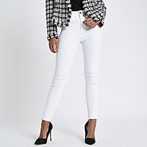 Harper – Jean blanc taille haute