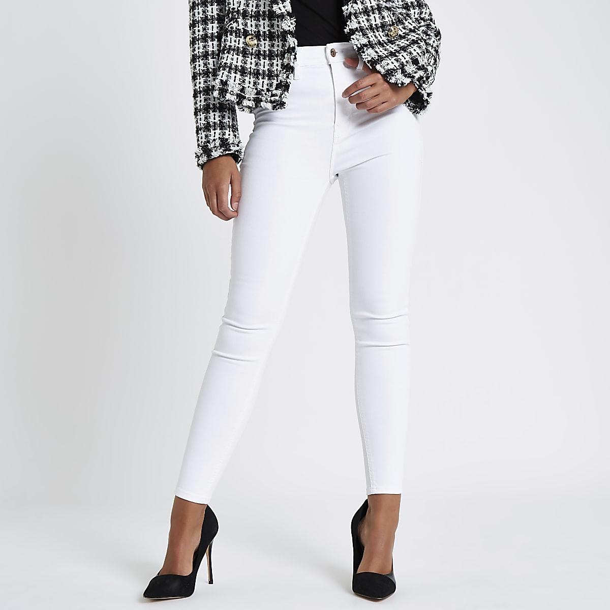 White Harper high rise jeans