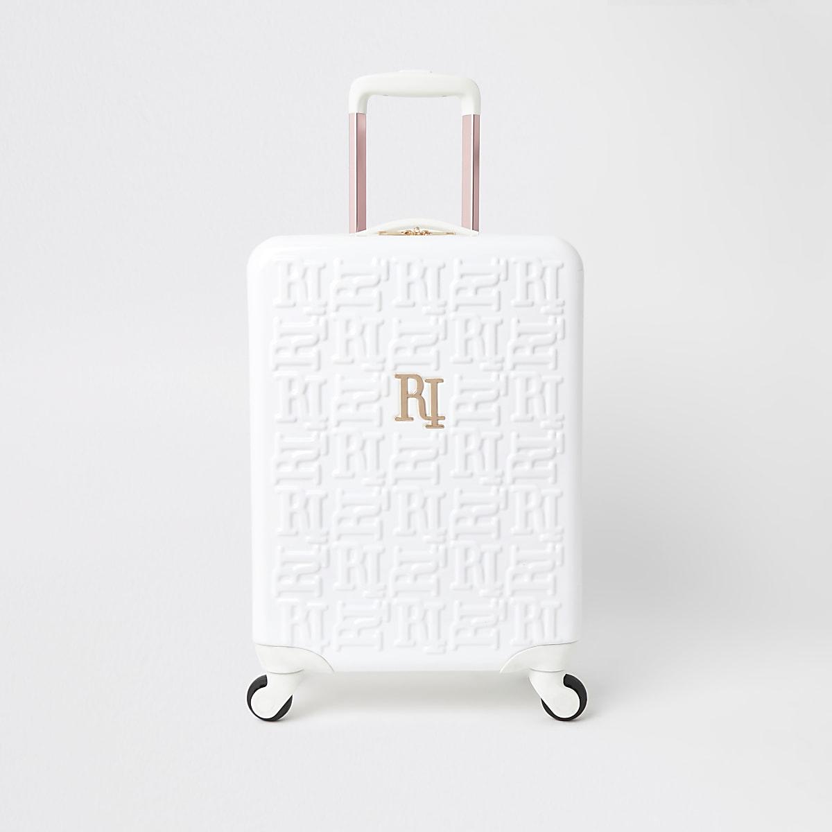 Witte koffer met RI-monogram