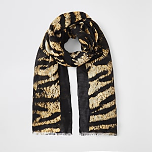 Brown tiger print scarf