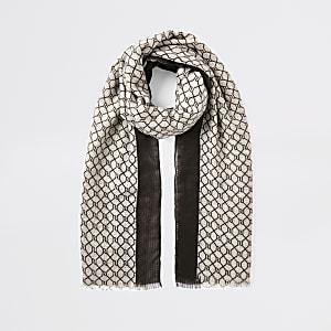 Bruine sjaal met RI-monogram