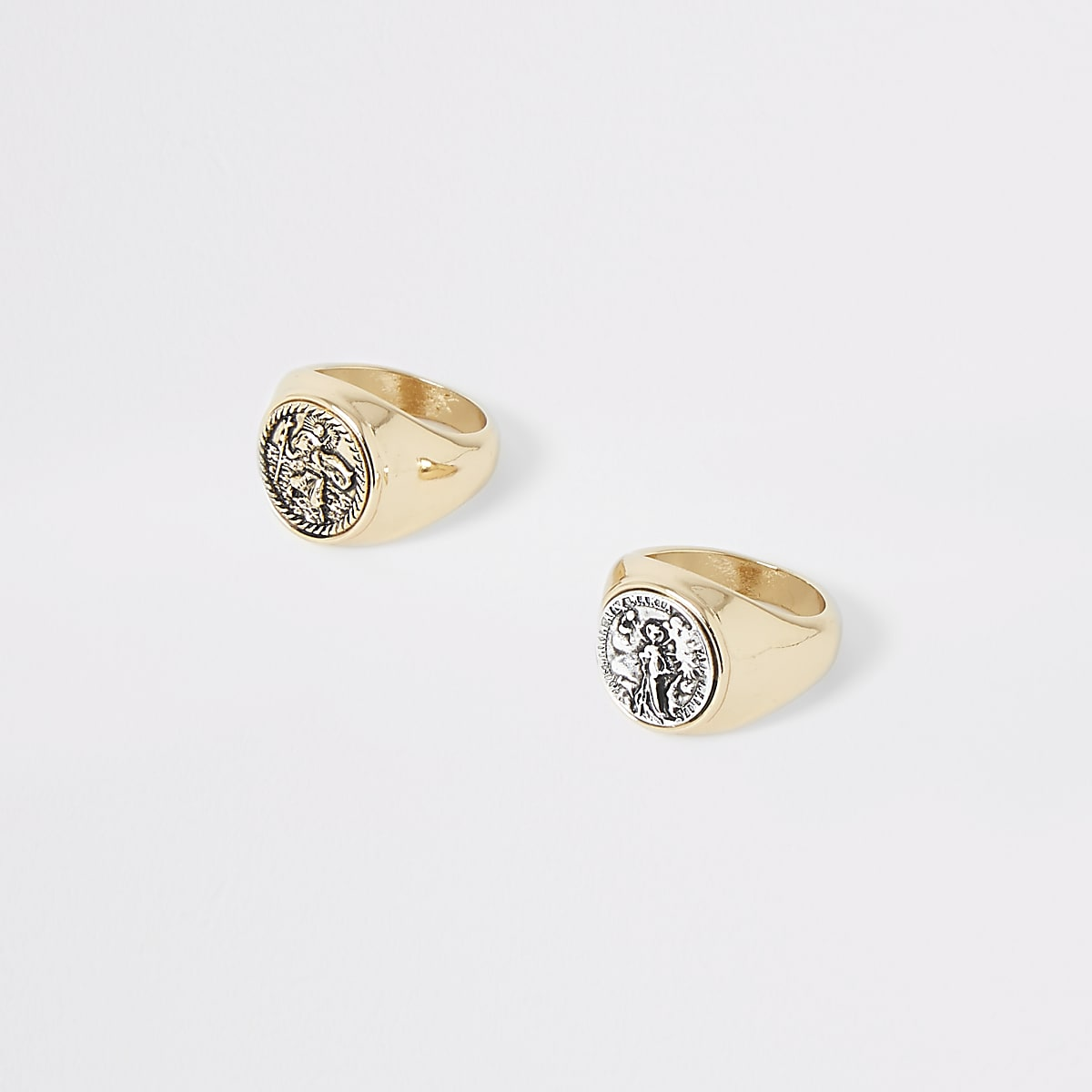 Gold color coin ring multipack