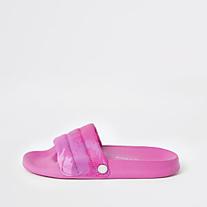Kendall + Kylie - Neonroze slippers