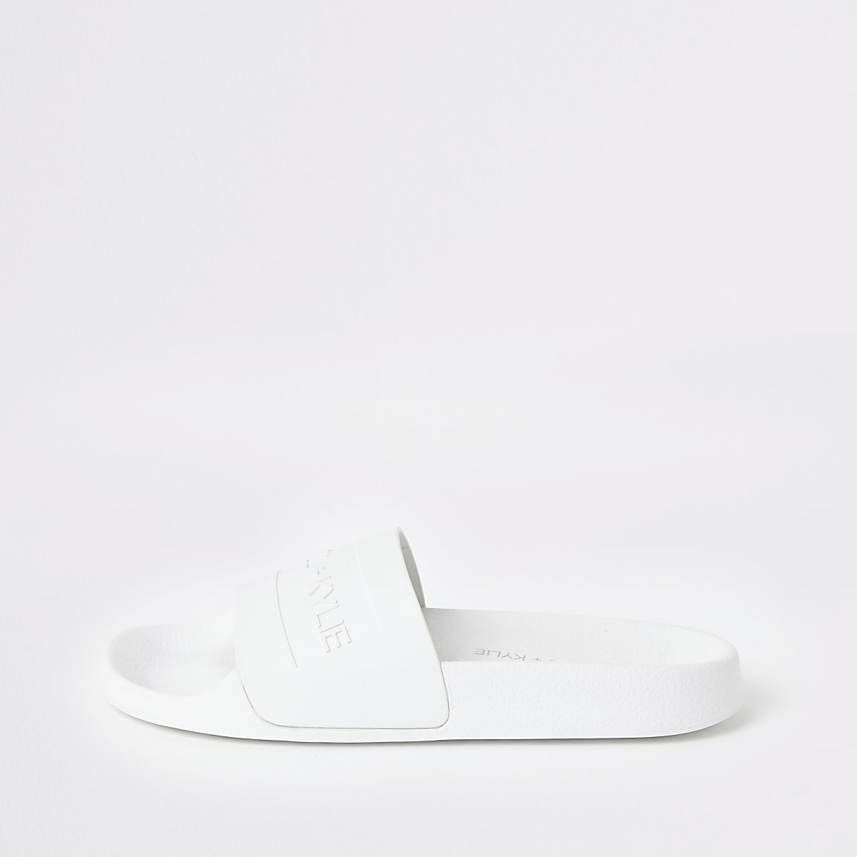 Kendall + Kylie white sliders