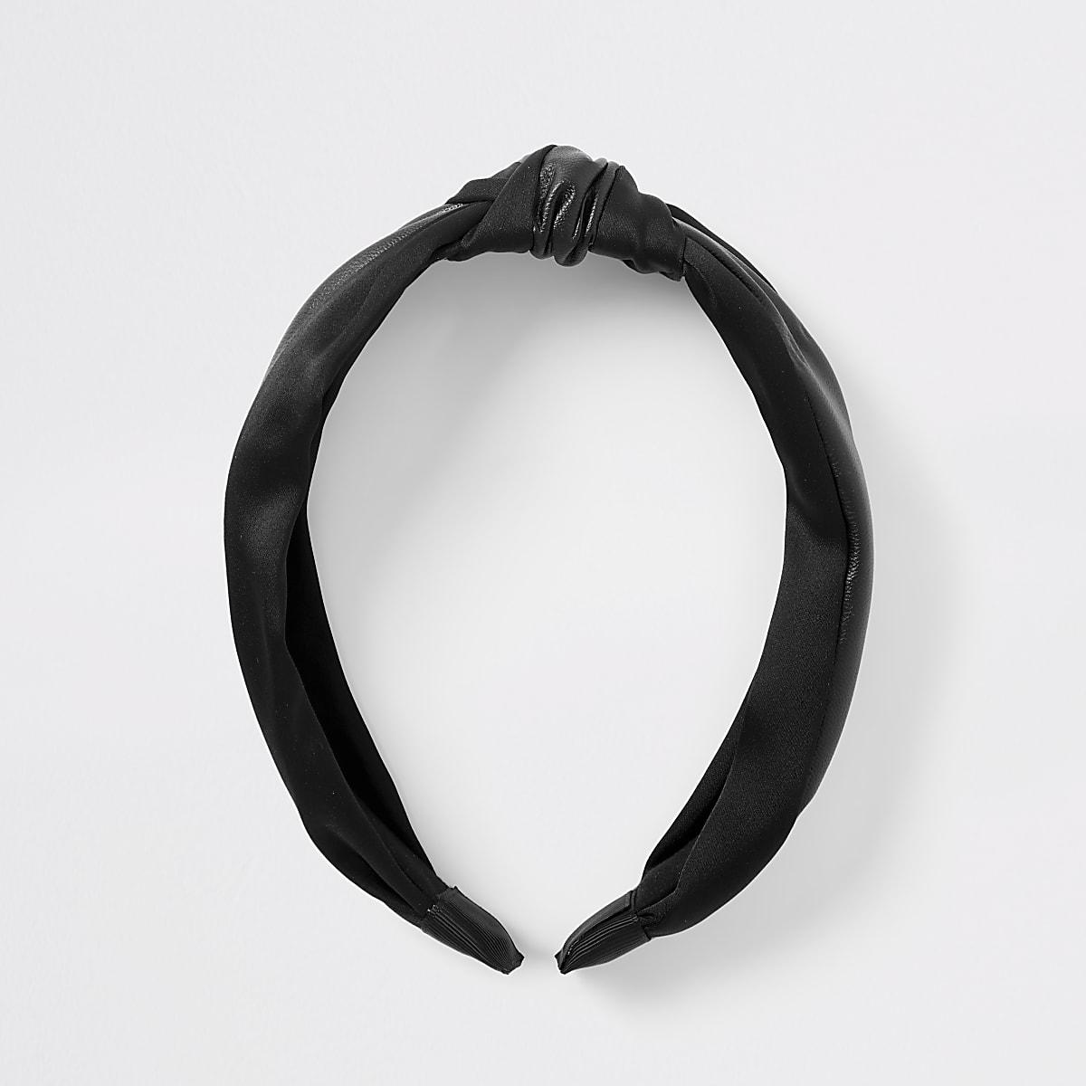 Zwarte geknoopte hoofdband