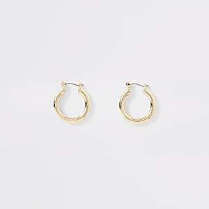 Petits anneaux épais dorés