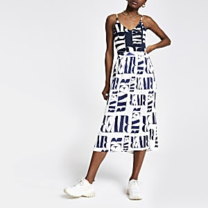 Navy RI print bodysuit
