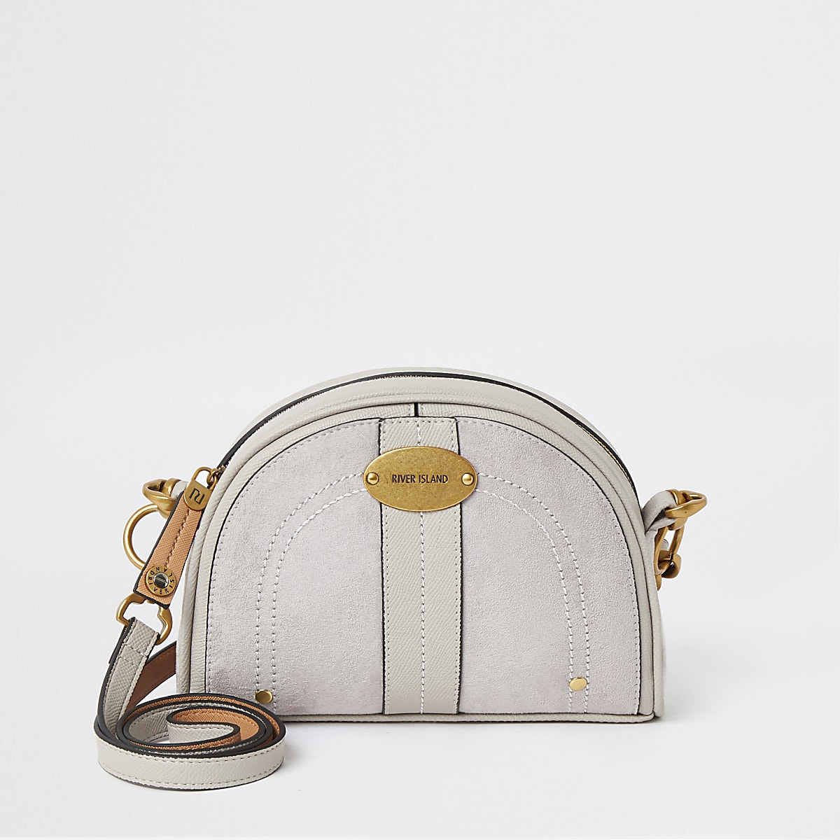 Light grey circle cross body bag