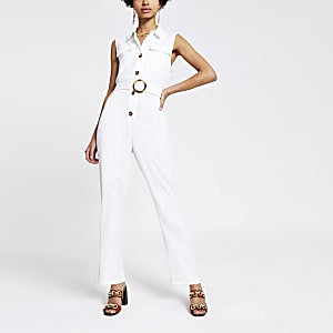 White utility boiler suit