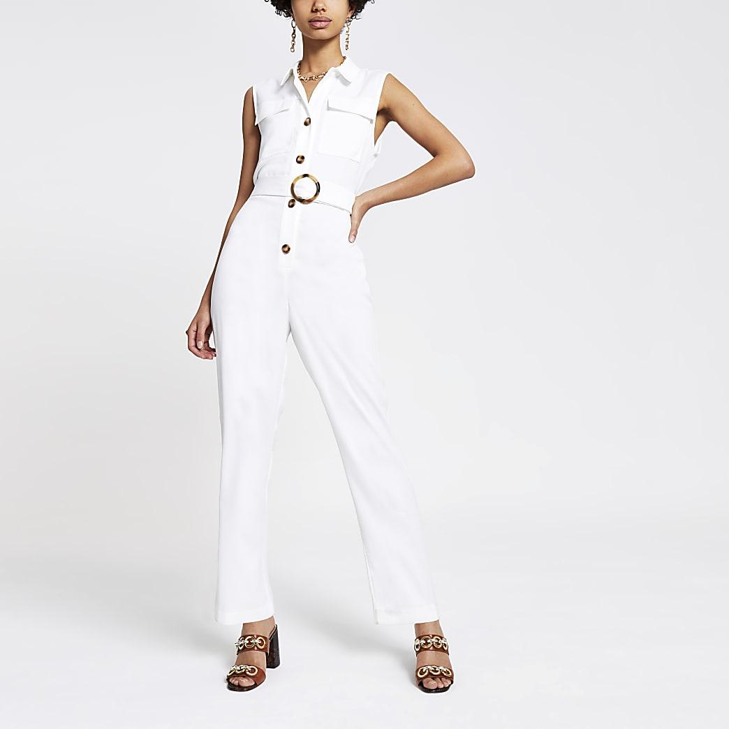 White utility boiler suit