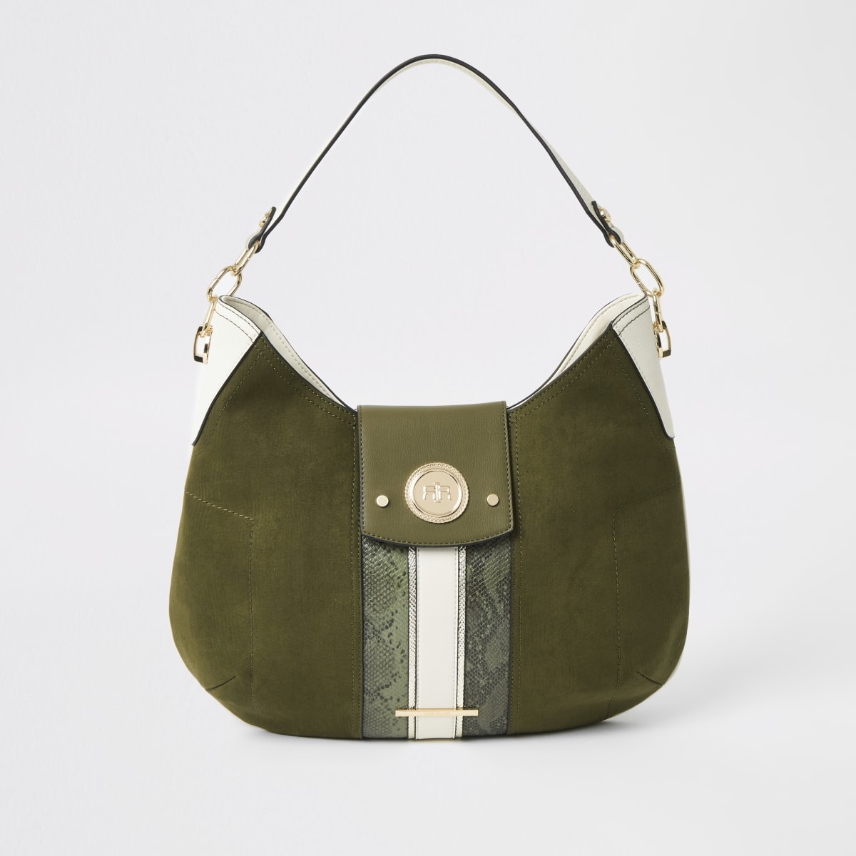 Khaki slouch under arm bag