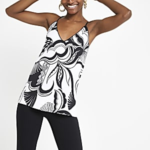 Monochrome printed cami top